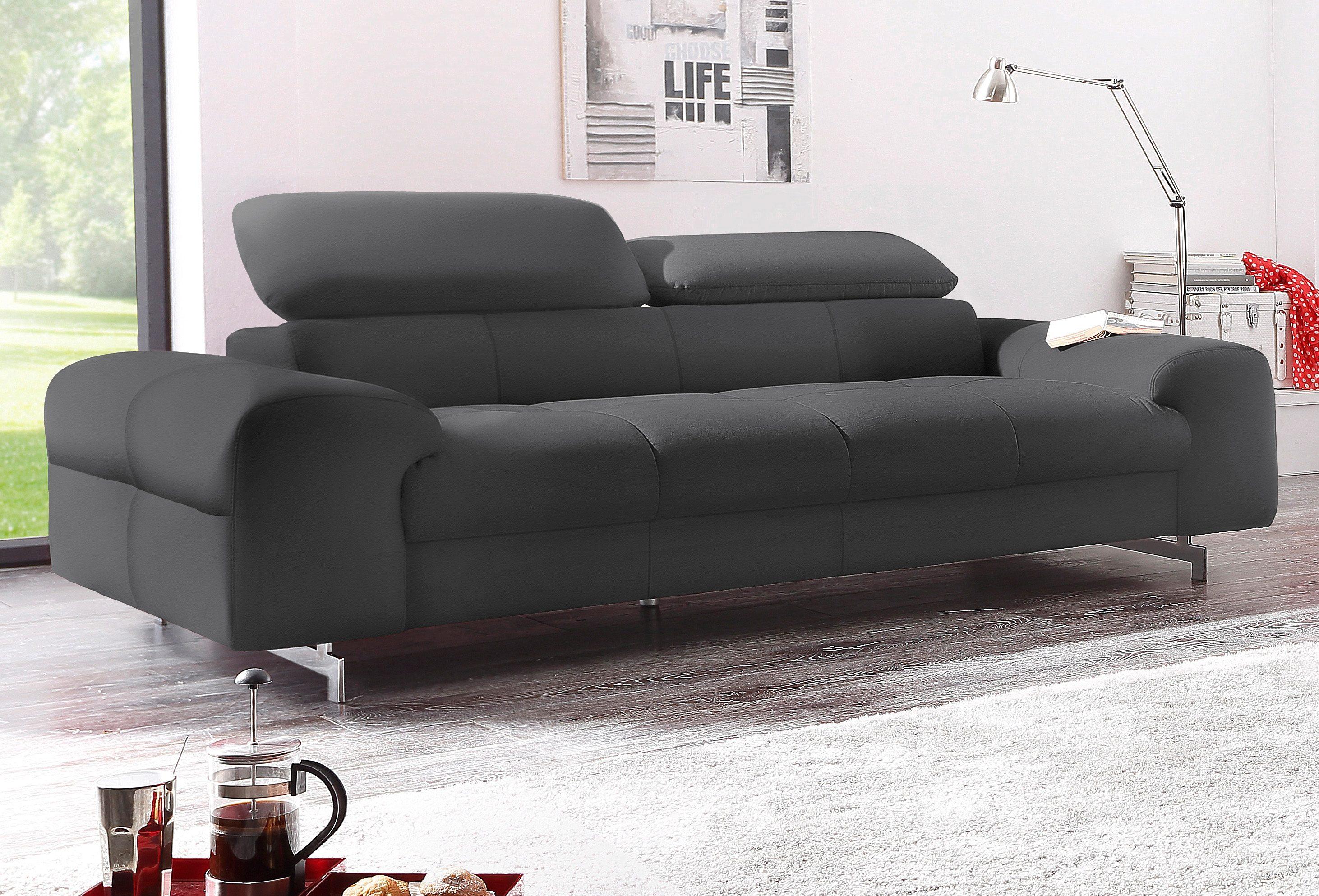 COTTA 3-Sitzer   Wohnzimmer > Sofas & Couches > 2 & 3 Sitzer Sofas   Schwarz   Leder   COTTA