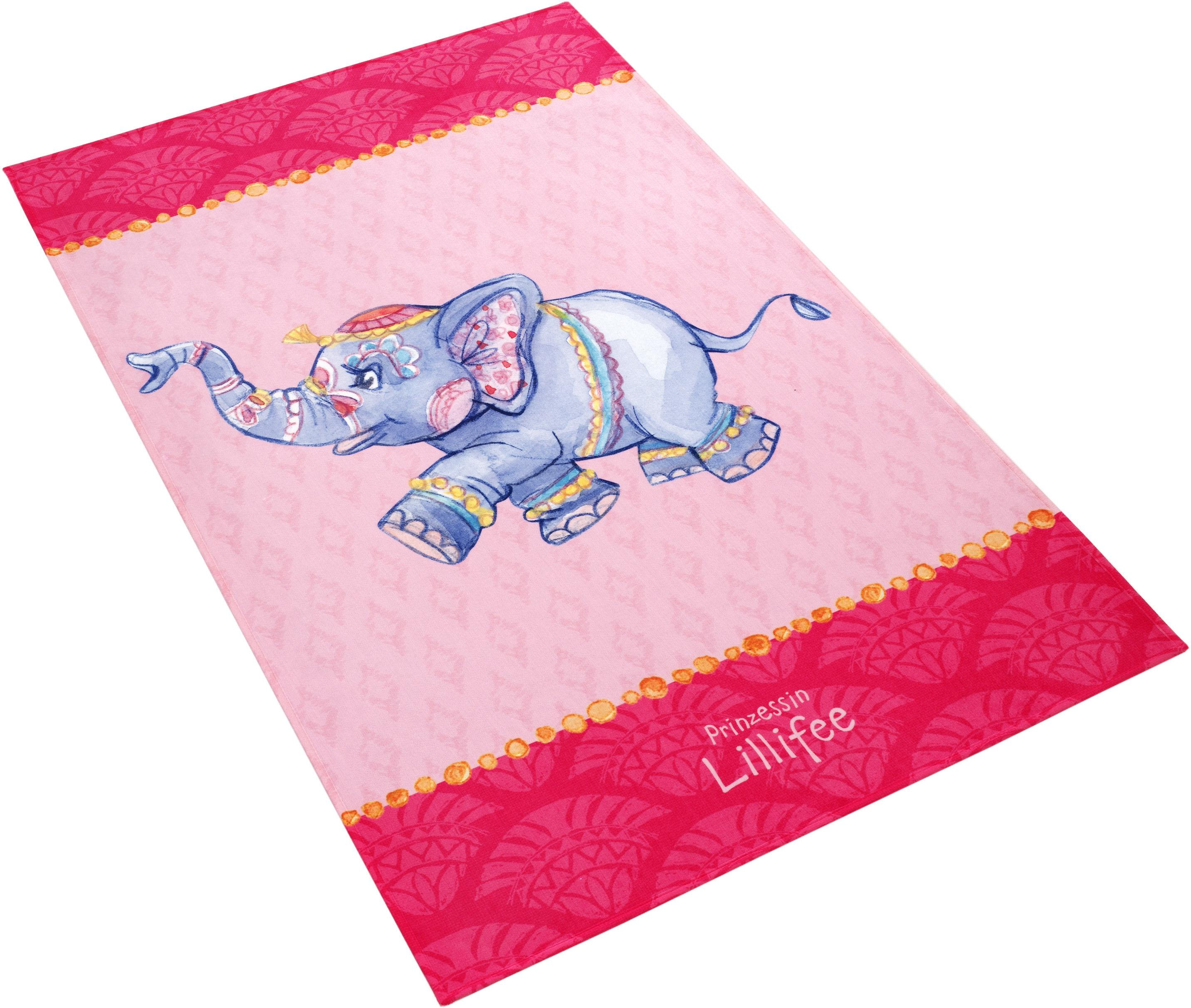 Kinderteppich LI-112 Prinzessin Lillifee rechteckig Höhe 6 mm gedruckt