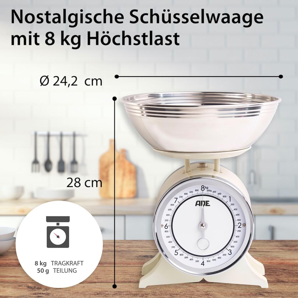 ADE Schüsselwaage »KM1500 Anna«, nostalgische Schüsselwaage im Retro-Design, Landhausstil
