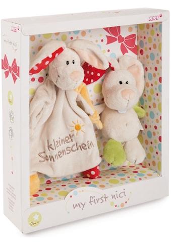 Nici Kuscheltier »My first NICI, Schmusetier Hase Tili, 18 cm«, mit Schmusetuch kaufen