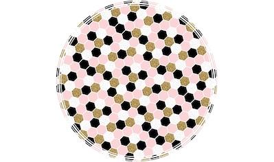 MySpotti Vinylteppich »Buddy Vania«, rund, 0,03 mm Höhe, rund, wasserfest und statisch... kaufen
