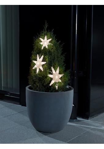 KONSTSMIDE LED Dekoobjekt, Warmweiß, Lichtervorhang, 3 Acryl Sterne kaufen