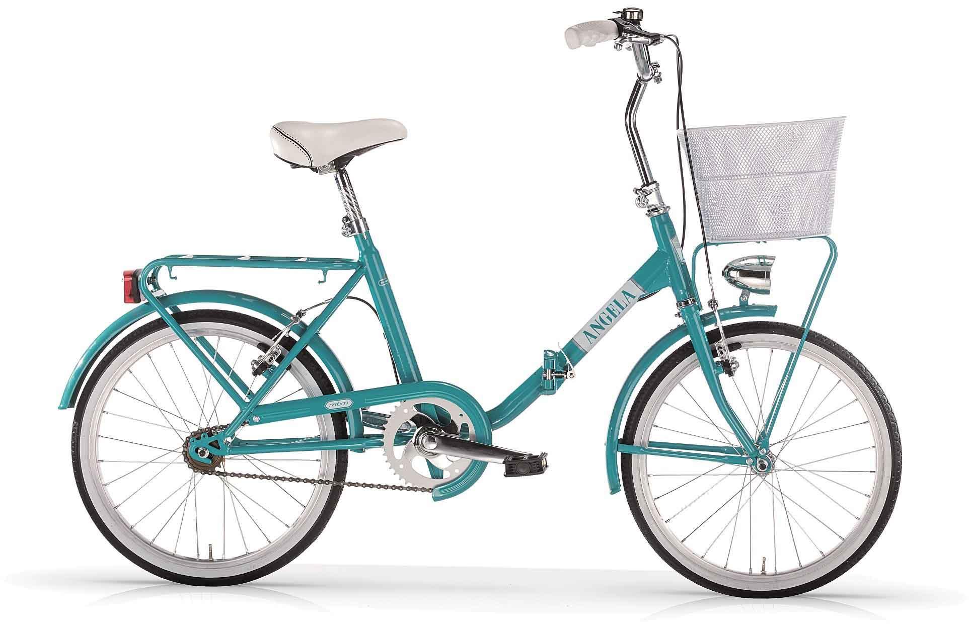 MBM Faltrad New Angela, 1 Gang Kettenschaltung blau Falträder Klappräder Fahrräder Zubehör Fahrrad