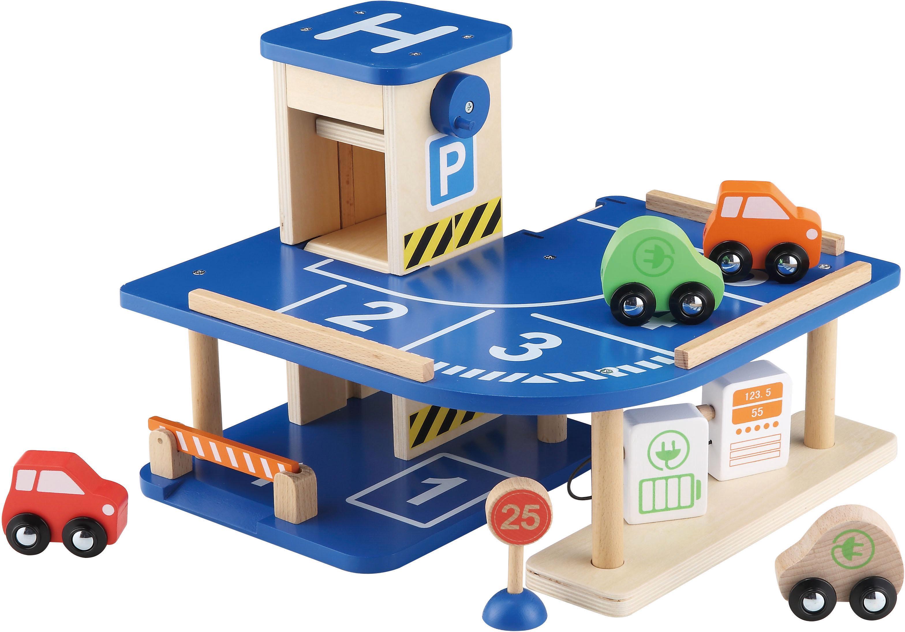 """EverEarth Spiel-Parkgarage """"Parkgarage"""" Kindermode/Spielzeug/Altersempfehlung/Ab 3-5 Jahren"""