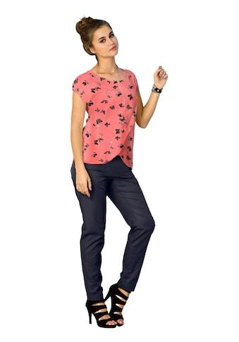 Inspirationen Shirt mit hübschem Druck - Dessin im Vorderteil kaufen