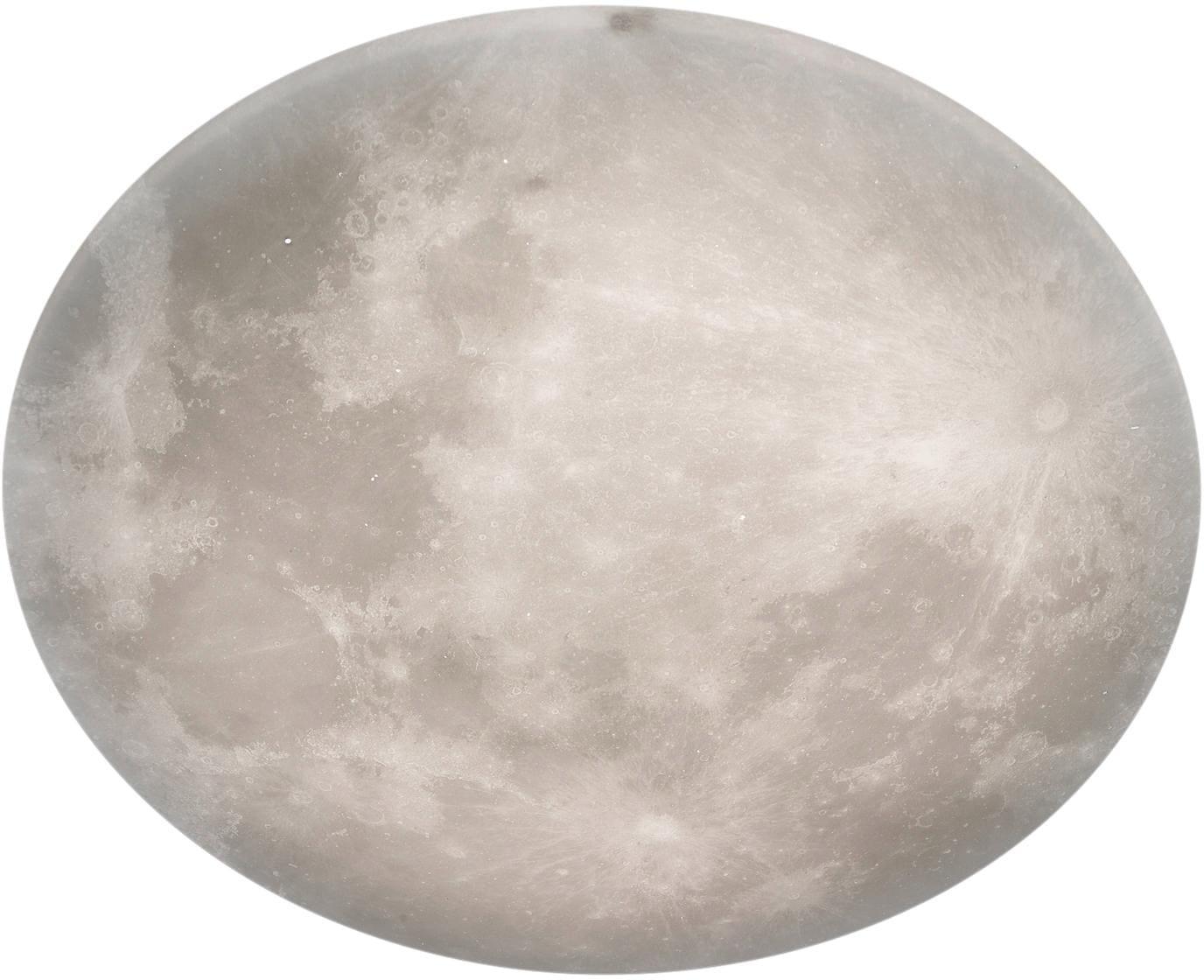 TRIO Leuchten LED Deckenleuchte LUNAR, LED-Board, Warmweiß, Nachtlicht, Deckenlampe Mond, Mondlampe