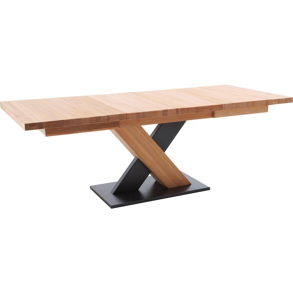 MCA furniture Esstisch »Mendoza A«, Esstisch Massivholz mit Synchronauszug