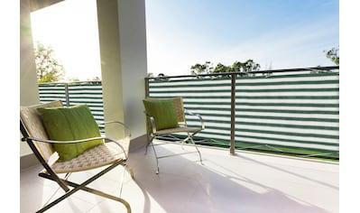 Floracord Balkonsichtschutz, BxH: 500x90 cm, grün/weiß kaufen