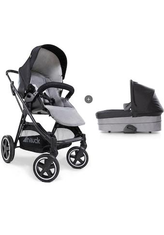 Hauck Kombi-Kinderwagen »iPro Mars Duoset, caviar/stone«, mit Babywanne; Kinderwagen kaufen