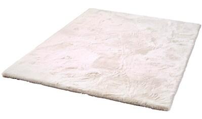 Dekowe Hochflor-Teppich »Roger Deluxe«, rechteckig, 33 mm Höhe, Kunstfell, Kaninchenfell-Haptik, besonders weich, Wohnzimmer kaufen