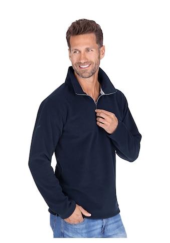 Trigema Fleece - Pullover mit Reißverschluss kaufen