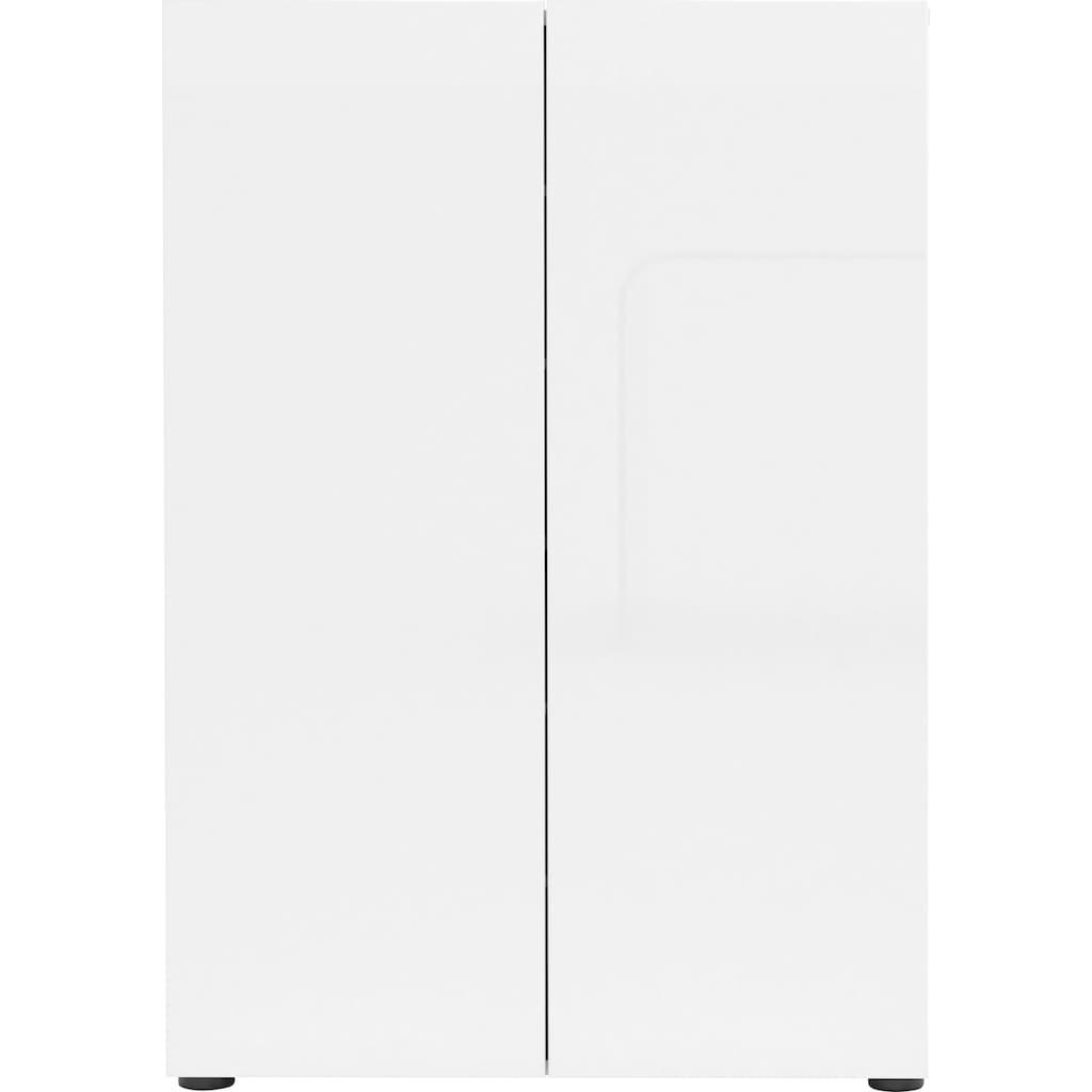 KITALY Schuhschrank »Mister«, Breite 80 cm, 2 Türen, Hochglanz Lackiert