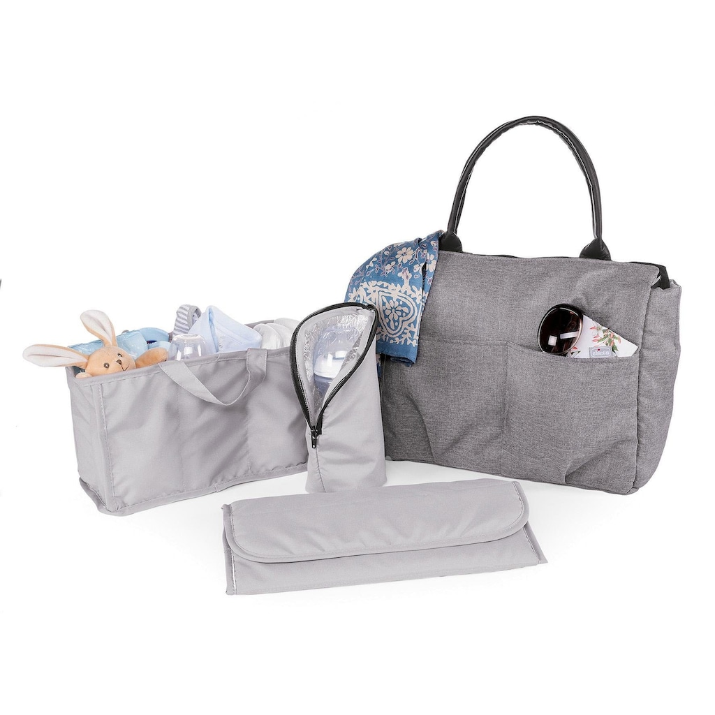 Chicco Wickeltasche »Organizer Bag, Cool Grey«, mit Rucksackfunktion und Wickelunterlage