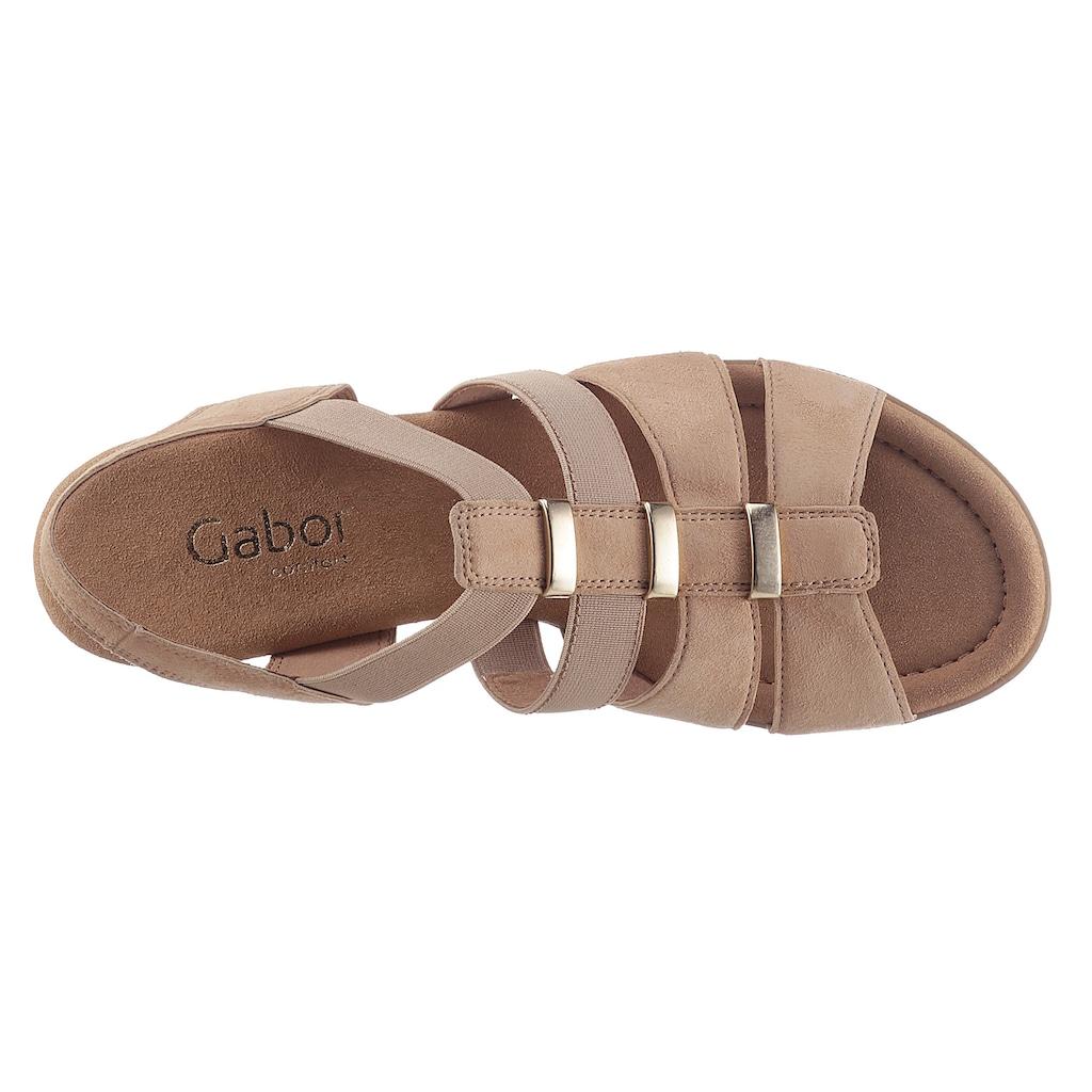 Gabor Sandalette, mit Stretcheinsätzen