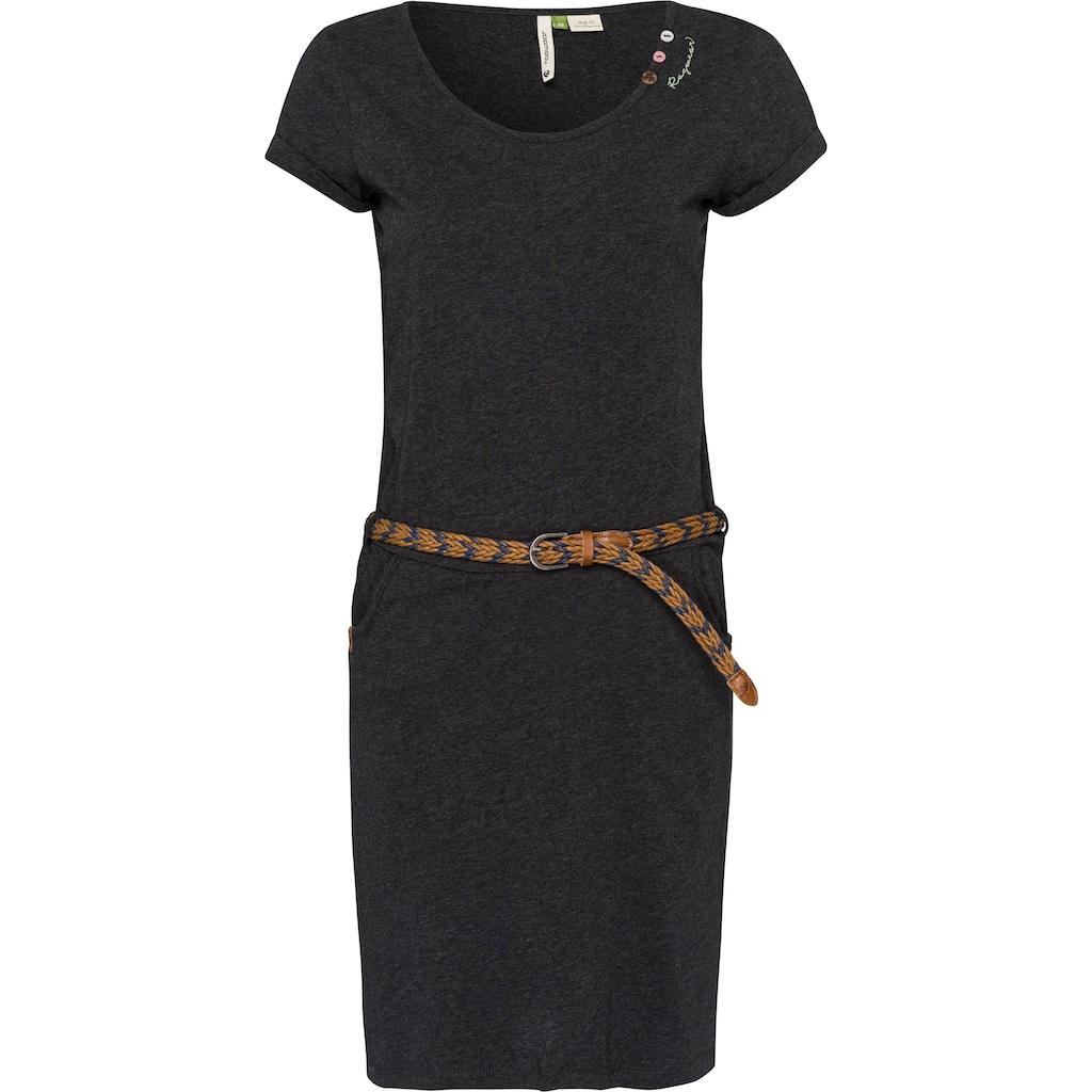 Ragwear Shirtkleid »MONTANA ORGANIC«, (2 tlg., mit abnehmbarem Gürtel), mit liebevollem Zierknopf-Besatz
