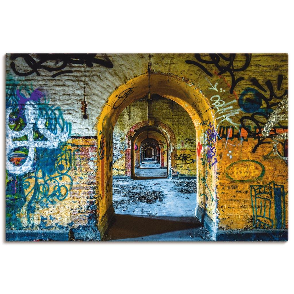 Artland Wandbild »Blick in die Vergangenheit«, Fenster & Türen, (1 St.), in vielen Größen & Produktarten - Alubild / Outdoorbild für den Außenbereich, Leinwandbild, Poster, Wandaufkleber / Wandtattoo auch für Badezimmer geeignet