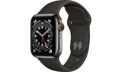Apple Watch »Series 6 GPS + Cellular, Aluminiumgehäuse mit Sportarmband 40mm«, (Watch... kaufen