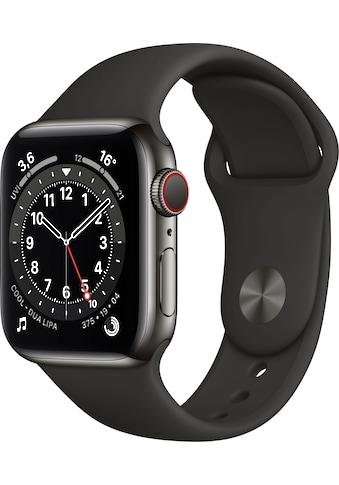 Apple Watch »Series 6 GPS + Cellular, Aluminiumgehäuse mit Sportarmband 40mm«, ( Watch... kaufen