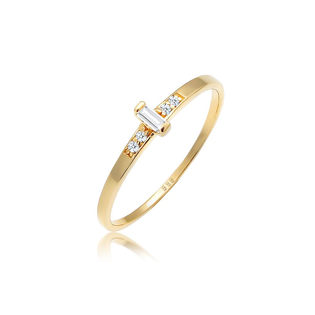 Diamore Verlobungsring »Verlobung Topas Diamant (0.02 ct.) 585 Gelbgold«