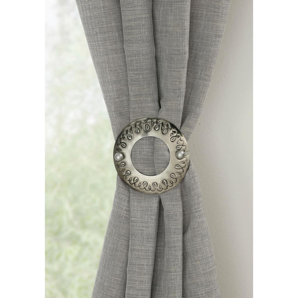 GARDINIA Dekoklammer »Dekospange Ring«, (1 St.), Serie Gardinenspangen / Raffspangen