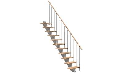 DOLLE Mittelholmtreppe »Frankfurt Eiche 65«, bis 258 cm, Metallgeländer, versch. Ausführungen kaufen