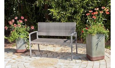 Gartenbank »Sanremo«, Polyrattan/Alu, 118x60x87 cm, dunkelgrau kaufen