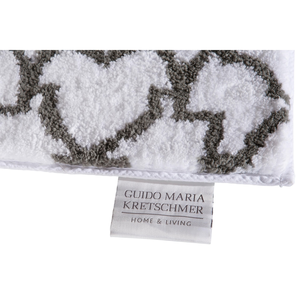 Guido Maria Kretschmer Home&Living Badematte »Birdal«, Höhe 15 mm, rutschhemmend beschichtet, fußbodenheizungsgeeignet