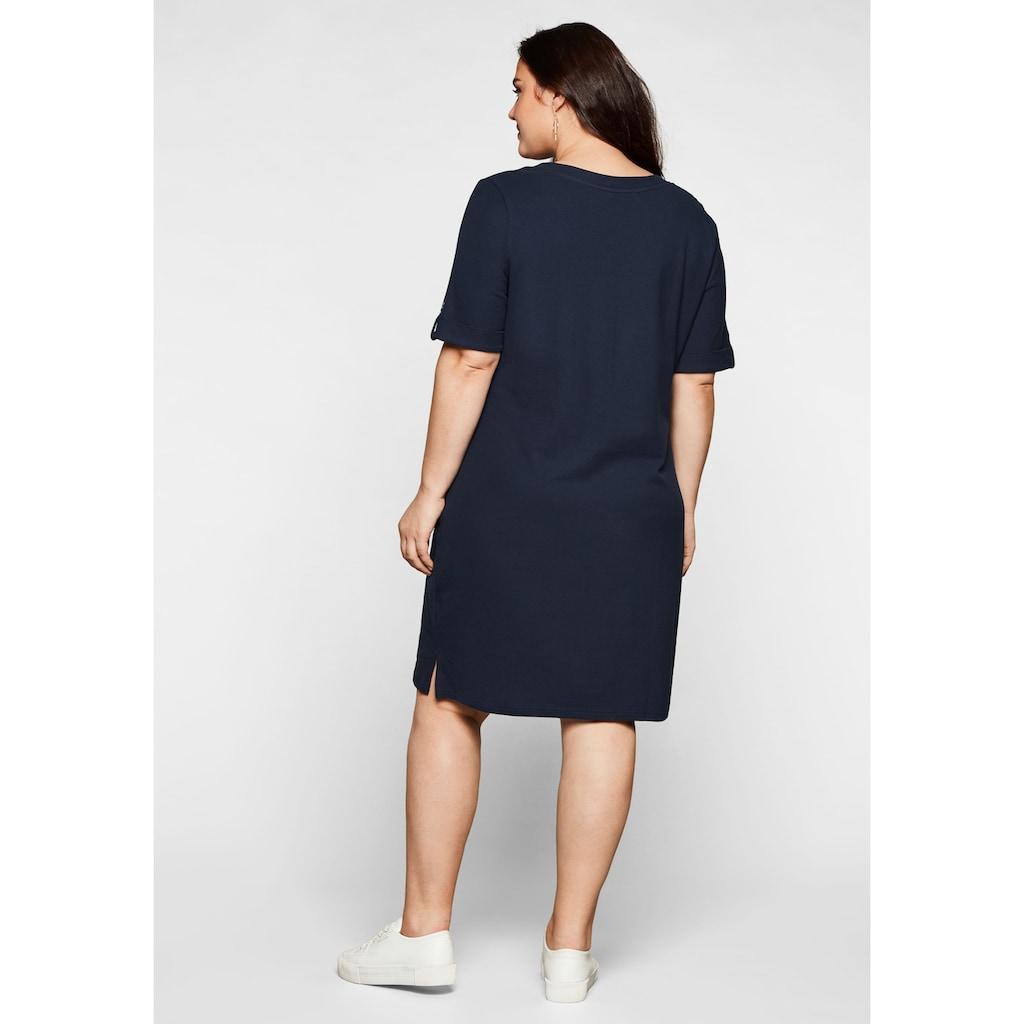 Sheego Shirtkleid, in Piqué-Qualität, mit Kontrastausschnitt