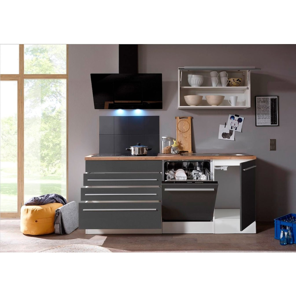 RESPEKTA Küchenzeile »Torin«, mit E-Geräten, Gesamtbreite 320 cm