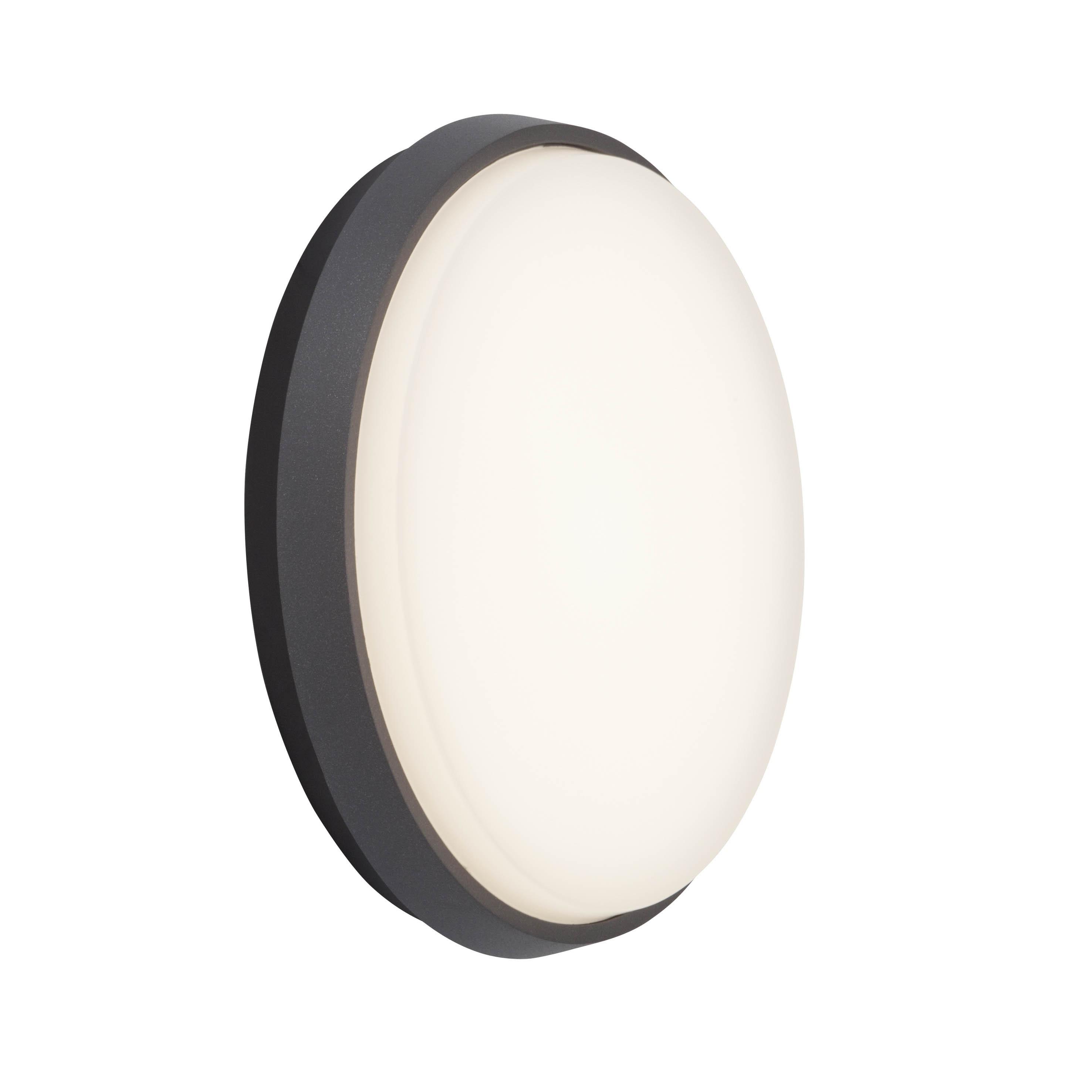 AEG Letan LED Außenwand- und Deckenleuchte 24cm anthrazit/weiß