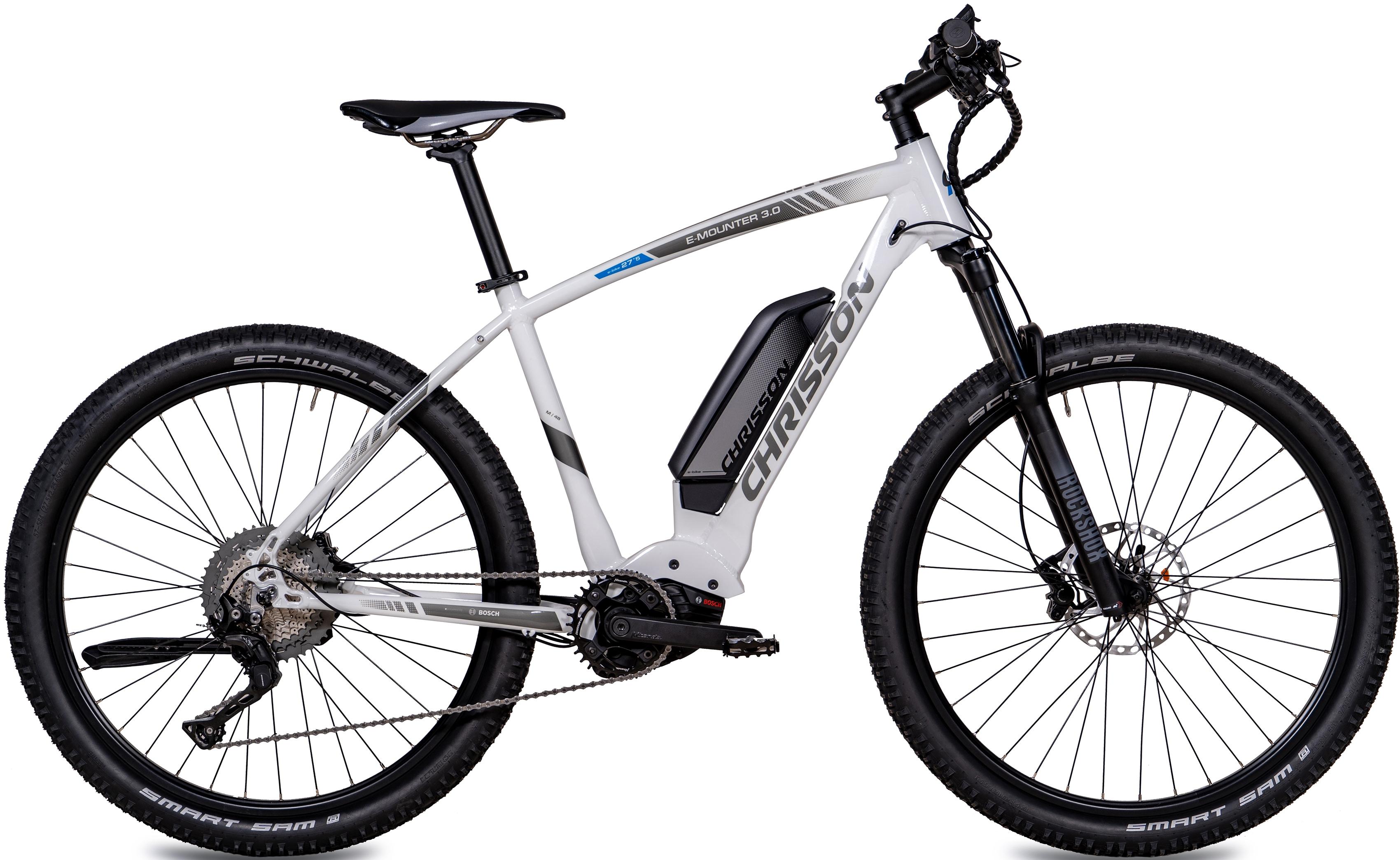 Chrisson E-Bike E-MOUNTER 3.0, 11 Gang, Shimano, Deore XT RD-M8000-SGS, Mittelmotor 250 W