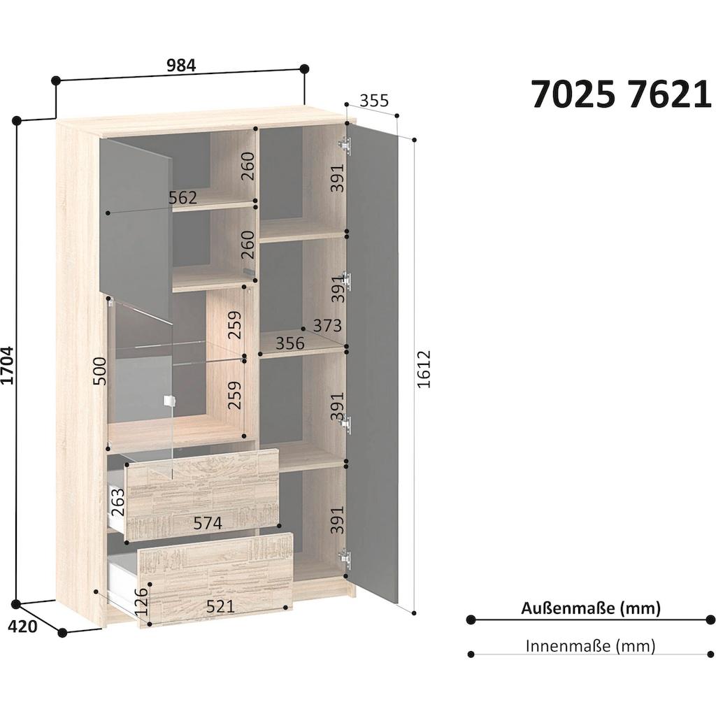 INOSIGN Vitrine »Brick«, mit Hintergrundbeleuchtung Höhe 170,5 cm