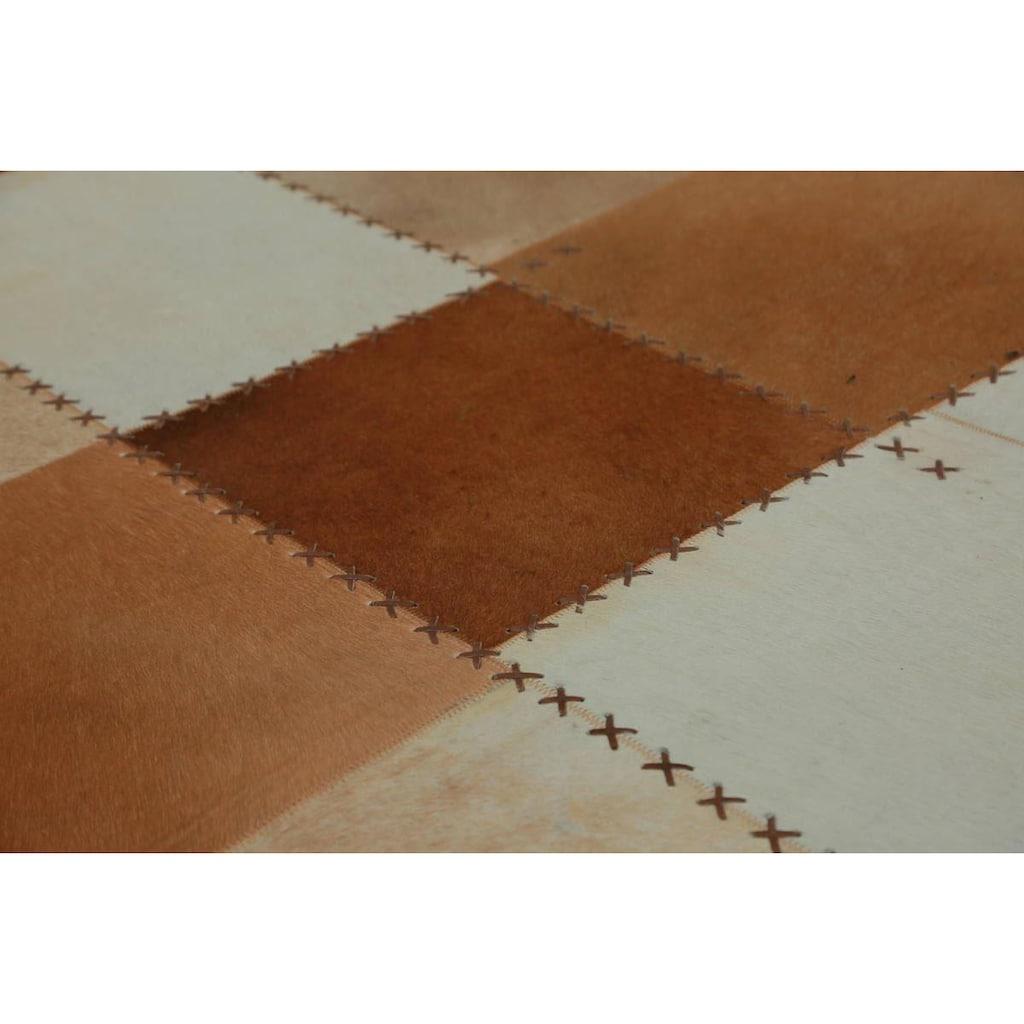 Kayoom Fellteppich »Mystic 110«, rechteckig, 8 mm Höhe, echtes Rinderfell, Wohnzimmer