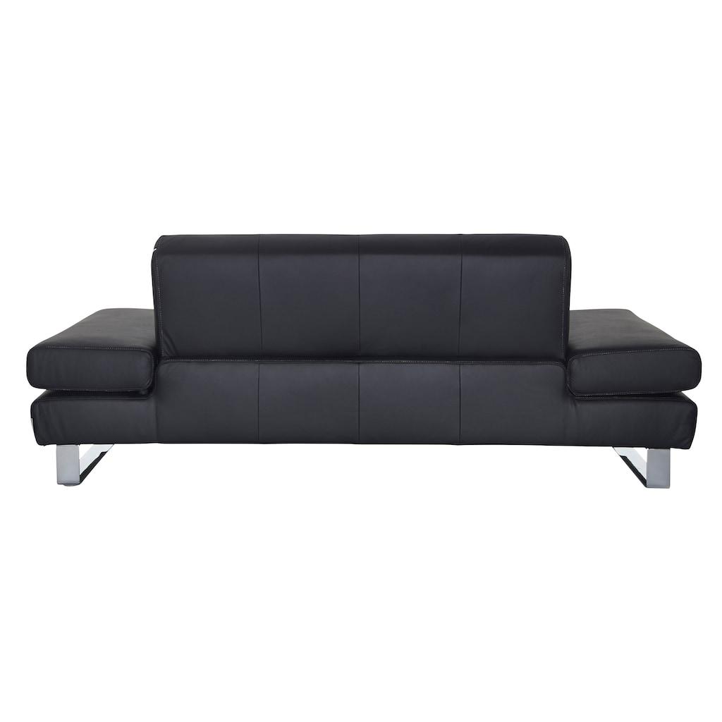 W.SCHILLIG 2-Sitzer »taboo«, mit Normaltiefe, inklusive Armlehnenverstellung, mit Kontrastnaht