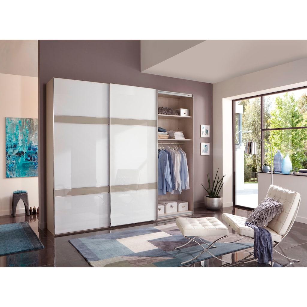 WIEMANN Schwebetürenschrank »Rialto«, hochwertige Glasfront mit Querriegeln