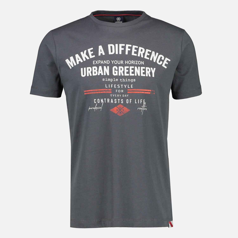 lerros -  T-Shirt, mit Brustprint, in Großen Größen