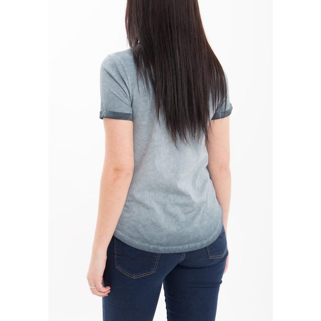 Way of Glory T-Shirt, mit Pailletten Applikation, oil wash