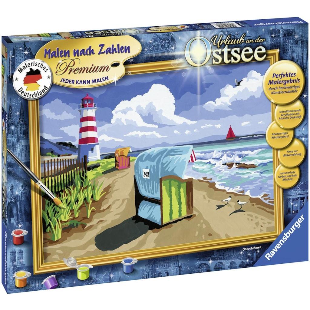 Ravensburger Malen nach Zahlen »Urlaub an der Ostsee«, Made in Europe, FSC® - schützt Wald - weltweit