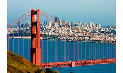 Papermoon Fototapete »Golden Gate Bridge«, matt, BlueBack, 7 Bahnen, 350 x 260 cm kaufen