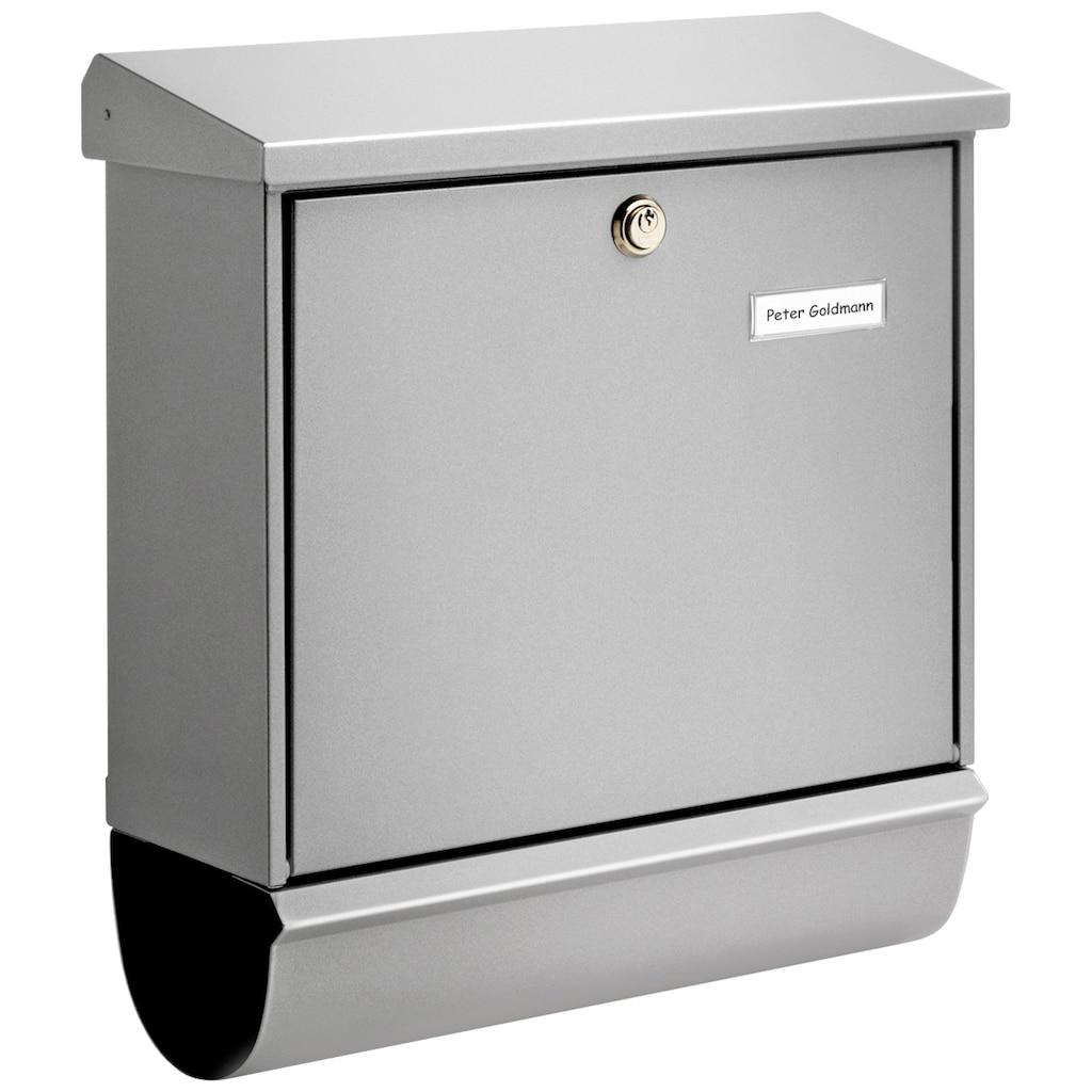 Burg Wächter Briefkasten »Comfort 91300 Si«, mit Öffnungsstopp, aus Stahlblech
