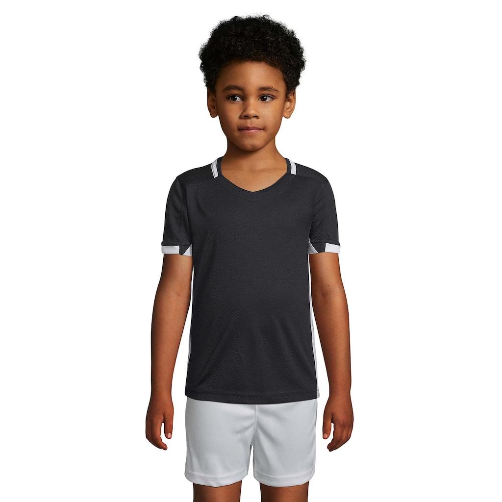 SOLS T-Shirt »Kinder Classico Kontrast Kurzarm Fußball«