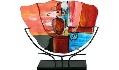 GILDE GLAS art Dekovase »New Life 1«, handbemalt mit Fusingglas-Elementen kaufen