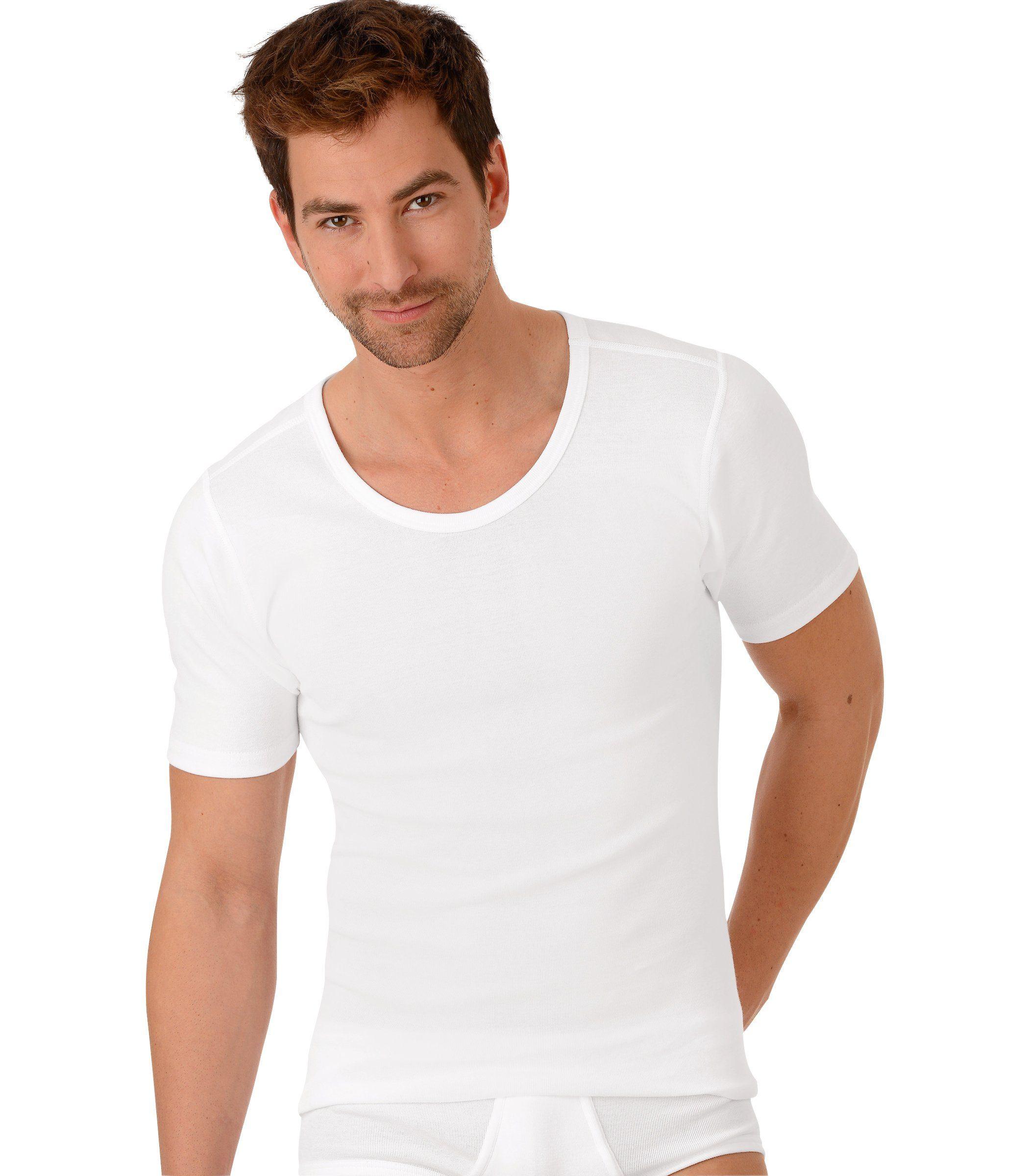 TRIGEMA Halbarm-Unterhemd Bio im Doppelpack | Bekleidung > Wäsche > Unterhemden | Weiß | Baumwolle | Trigema