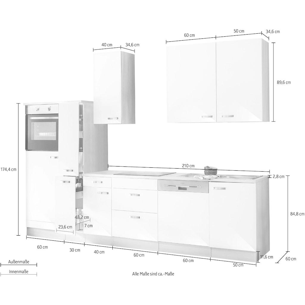 OPTIFIT Küchenzeile »Faro«, mit E-Geräten, Breite 300 cm