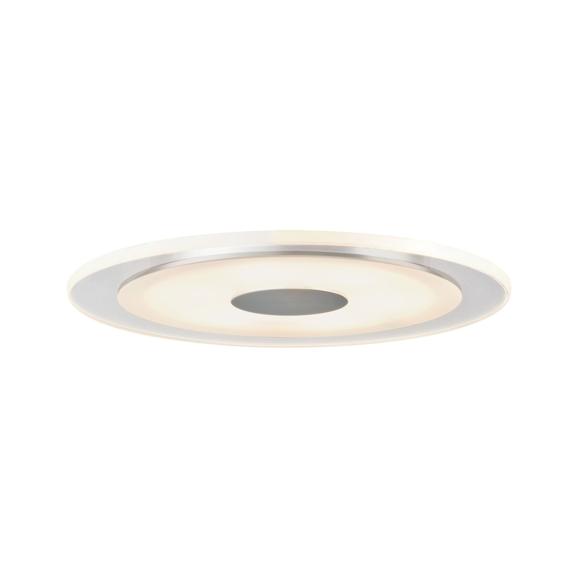 Paulmann LED Einbaustrahler 1er-Set modern Alu/Acryl Premium Line Whirl 6W Alu, Satin, 1 St., Warmweiß