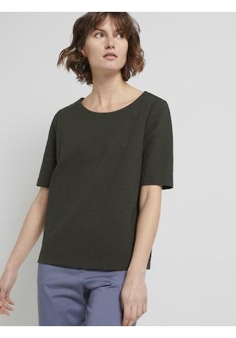 TOM TAILOR Sweatshirt »Strukturiertes Kurzarm-Sweatshirt« kaufen