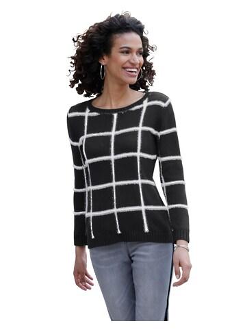 Pullover mit kontrastfarbigem Effektgarn kaufen