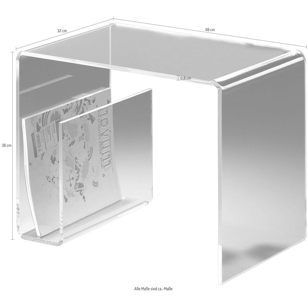 Places of Style Couchtisch, mit Zeitungsfach aus Acrylglas