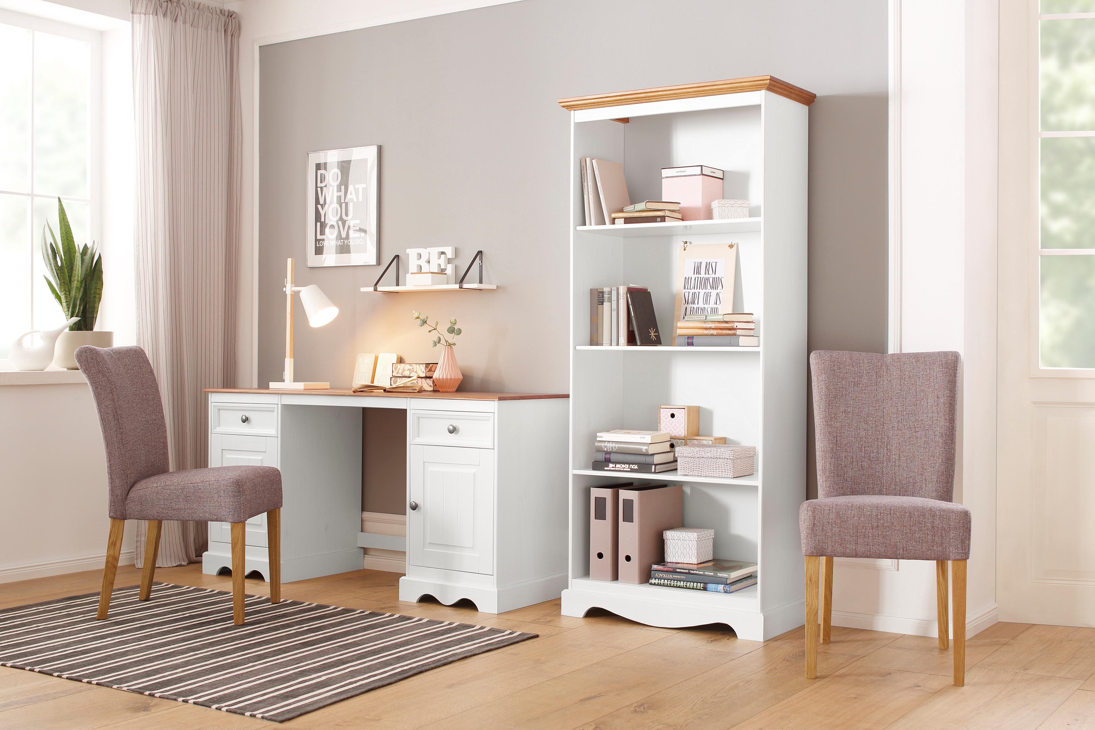 Home affaire Schreibtisch Melissa aus massiver Kiefer mit 2 Türen und 2 Schubladen Breite 150 cm