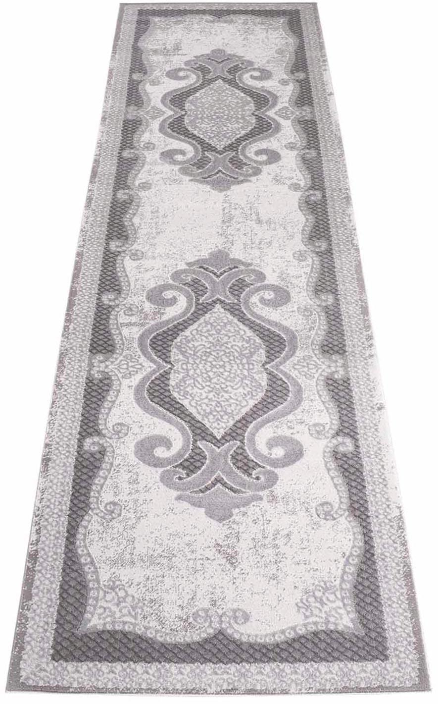 Läufer Platin 7741 Carpet City rechteckig Höhe 11 mm maschinell gewebt